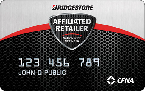 Bridgestone Affiliated Retailer Nationwide Network card